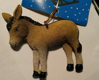 New Donkey Christmas Tree Ornament - Adorable Farm Animal - Donkey Cross Legend