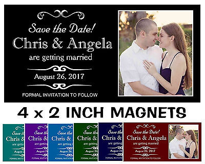 SAVE THE DATE WEDDING INVITATION MAGNETS ~ FREE SHIPPING (Wedding Save The Dates)