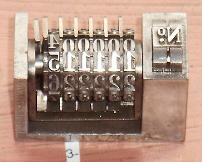 Letterpress Numbering Machine Key 3