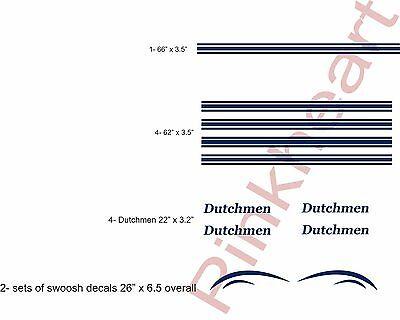 Custom Pop up decal kits Dutchmen stripe kit RV trailer boat graphics stickers
