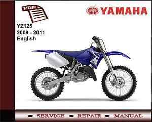 yamaha yz125 yz 125 2009 2011 workshop service repair. Black Bedroom Furniture Sets. Home Design Ideas