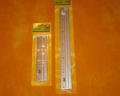 Lineal Set  Aluminium 15 und 30 cm  Alulineal Metall