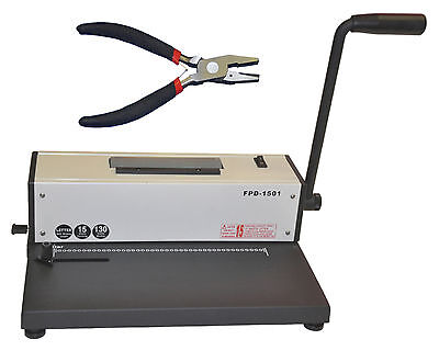New Metal Based Spiral Coil Binding Machine Binder W Electric Inserterpliers