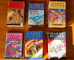 6x Harry Potter Books