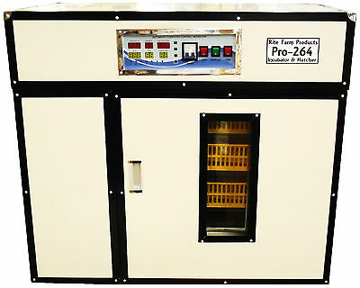 Rite Farm Products Pro-264 Cabinet Incubator Hatcher 264 Chicken Egg Capacity