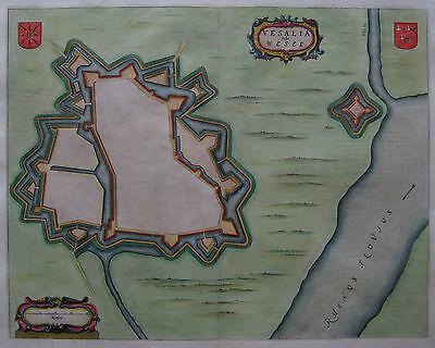 Wesel - Vesalia - Willem Janszoon Blaeu - Originaler Plan von 1649