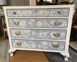 SOLD -BEAUTIFUL HAND PAINTED DRESSER