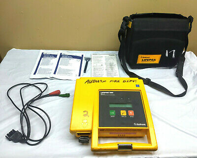 Lifepak 500 Biphasic Defibrillator Aed With Case Electrodes Battery 9-13-20