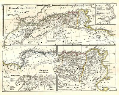 1855 Spruneri Map of North Africa in Ancient Times (Carthage, Alexandria)