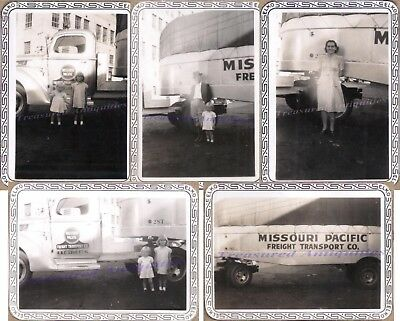 1930s Family Missouri Pacfic 1937 International D30 Tractor Trailer Truck Photos