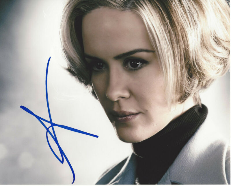 SARAH PAULSON SIGNED AMERICAN HORROR STORY 8X10 PHOTO COA 12 YEARS A SLAVE