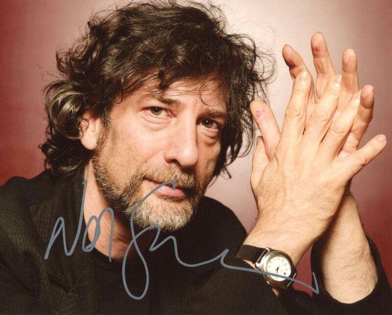 "Neil Gaiman ""American Gods"" AUTOGRAPH Signed 8x10 Photo ACOA"