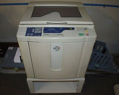 Riso Risograph Rz 220ui High Speed Digital Duplicator W 7 Drums 6cases Ink