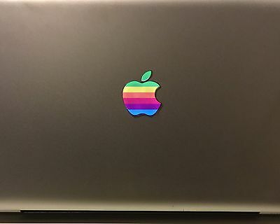 GLOWING 2019 RETRO Apple MacBook Pro Air Sticker Mac Laptop DECAL Logo Retina