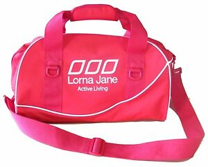 NWT Lorna Jane Sport Ruby Red Gym Athletic Overnight Travel Bag RRP 65.99