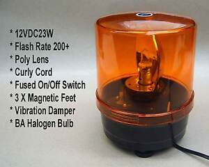 Single rotating halogen amber flashing safety lignts (12v) ☆x 2☆ Adelaide CBD Adelaide City Preview