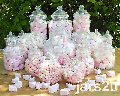 Vintage Retro 19 Plastic Jars Kids Party Kit Sweet Shop Wedding/Candy Buffet