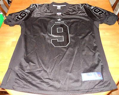 1861a8d78 Tony Romo RARE AUTHENTIC Reebok BLACK NFL jersey Dallas Cowboys #9 adult XXL