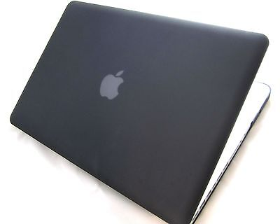 "Black Rubberized Hard Case Cover MacBook Pro 15.4"" Display 15-Inch (Non Retina) on Rummage"