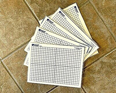 Dry Erase Board Pack Of 5 Whiteboard With Grid Office Home School Math Graphing