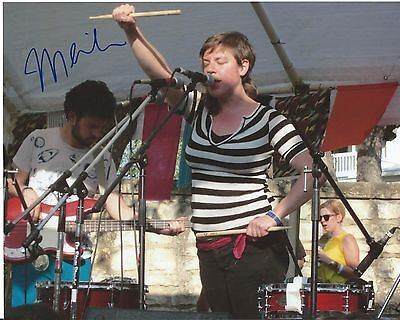 Merrill Garbus tUnE-yArDs Concert Hand Signed 8x10 Photo Autographed w/COA