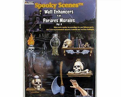Halloween Decoration Spooky Scenes Dungeon Wall Enhancers 8 Life Size in Pack - Spooky Scene