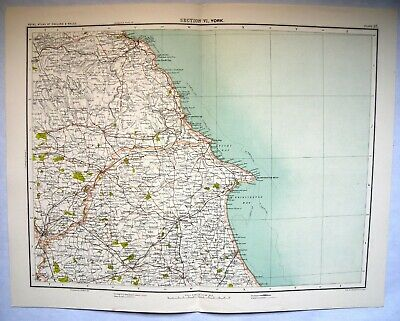 YORK, Map Plate-c1900+ Bartholomew -Royal Atlas Of England & Wales ( From Atlas)