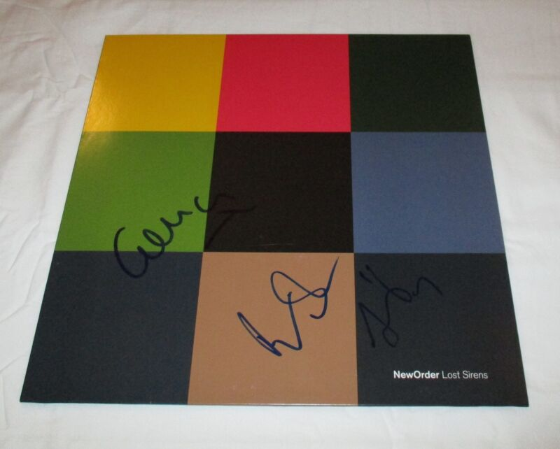 NEW ORDER SIGNED LOST SIRENS VINYL RECORD