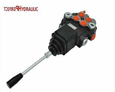 2 Spool Hydraulic Directional Control Valve Joystick 11gpm 40l Double Acting