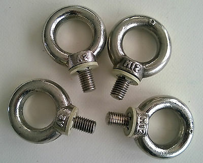 4x Eye Bolt –Oogbout  M12 Stainless Steel A2