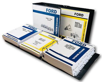 Ford 5500 5550 Backhoe Loader Tractor Service Repair Parts Manual Shop Ovhl Set