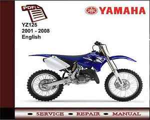 yamaha yz125 yz 125 2001 2008 service repair workshop manual. Black Bedroom Furniture Sets. Home Design Ideas