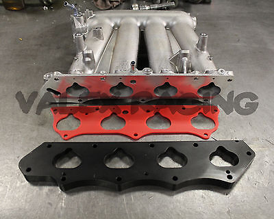 K20 To H22 Clipped Rbc Intake Manifold W  Thermal Gasket   Skunk2 Adapter Plate