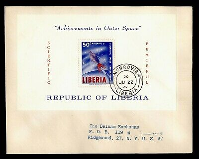 DR WHO 1964 LIBERIA FDC ACHIEVEMENTS IN OUTER SPACE S/S C244392