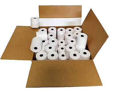 3 X 165 Cash Register 1 Ply Bond Printer Pos Paper Roll 100 Rolls Case