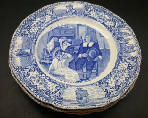 CROWN DUCAL COLONIAL TIMES Salad Plates