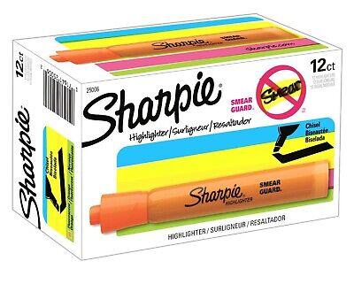 25006 Sharpie Accent Tank Highlighter Chisel Tip Orange Box Of 12
