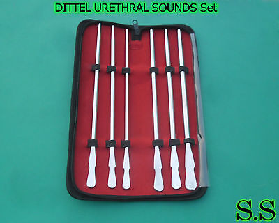 Dittel Urethral Sounds Set Of 6 Urology Surgical Medical