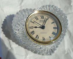 Clocks Crystal Glass Heart Desktop Crystal Legends Quartz Movements