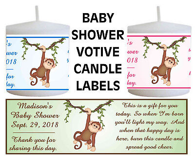 Baby Safari (MONKEY JUNGLE SAFARI BABY SHOWER FAVORS VOTIVE CANDLE)