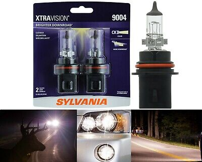 Sylvania Xtra Vision 9004 HB1 65/45W Two Bulbs Head Light Dual Beam Replacement