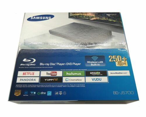 Samsung - Streaming Wi-Fi Built-In Blu-ray Player Black BD-J5700/ZA