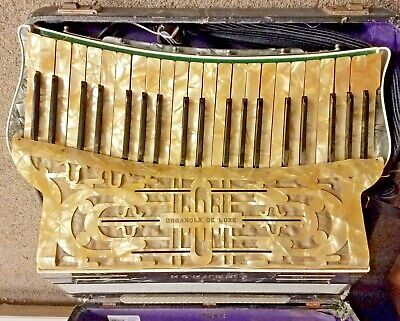 HOHNER ORGANOLA DE LUXE IV VINTAGE PIANO ACCORDION GERMANY 1920s/30s