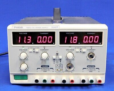 Protek 3040t Triple Output Power Supply W Series Parallel Track Non-functional