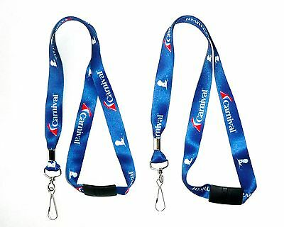 Lot Of 2  Carnival Cruise Line Lanyard Clip Keychain 20   New