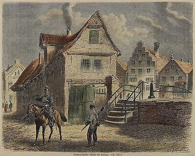 Otto Fikentscher: Österreichische Wache in Husum um 1865