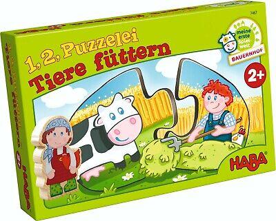 Puzzle Jigsaw 1,2 Puzzle Animals Fed Haba 7467