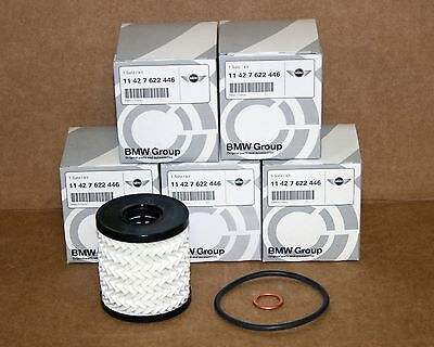 Genuine Mini Cooper Oil Filter Kit Pack of 5 11427622446  11 42 7 622 446