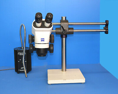 Zeiss Stemi 2000 Stereo Microscope Boom Stand Fiber Light
