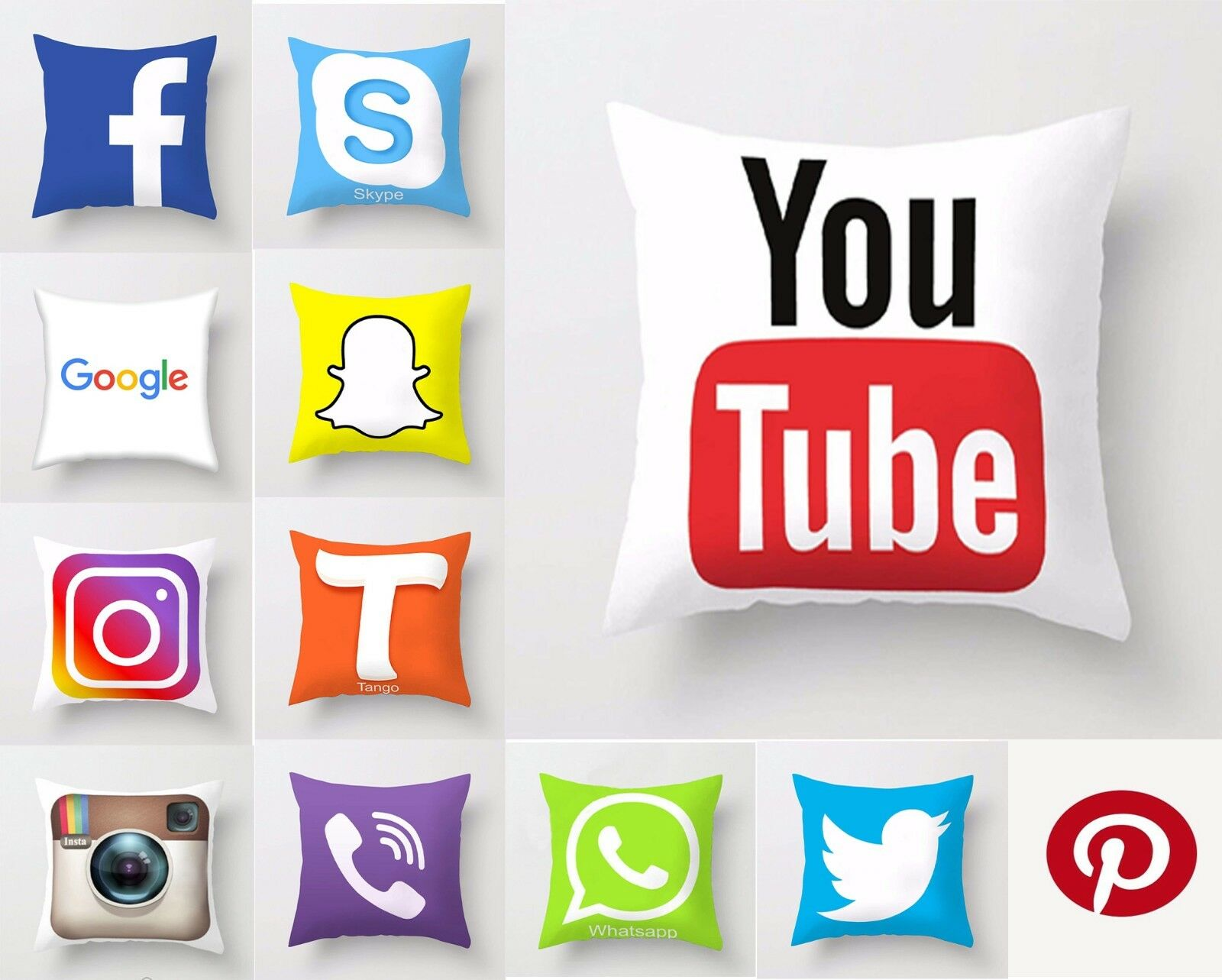 Microfiber Luxury Social Media Decorative Cushion Covers Pil